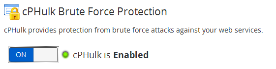 Disable brute force attack protection