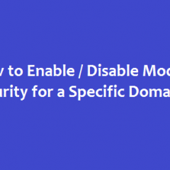 Disable modsecurity cpanel