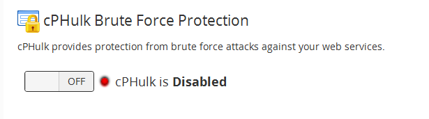 Enable brute force protection