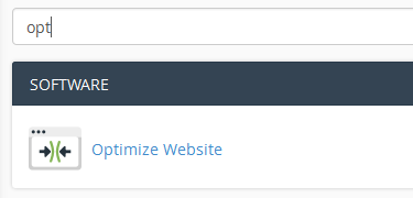 Optimize website cPanel