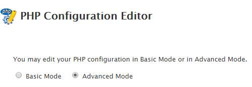 PHP configuration editor WHM