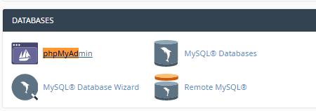 Rename mySQL phpmyadmin