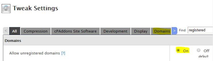 addon domain error
