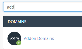 addon domains cPanel