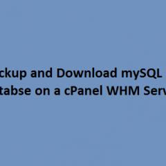 backup download mysql database