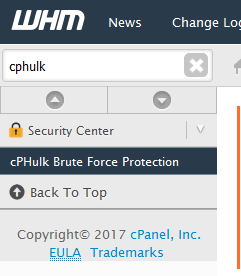 cPAnel bruteforce protection