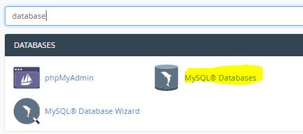 cPanel MySQL db