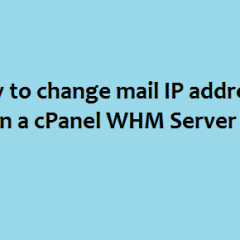 change exim mail IP address WHM