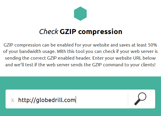 check website gzip compression