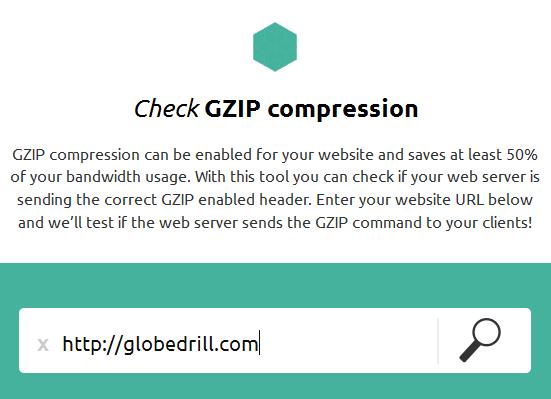 check website gzip compression