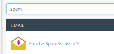 cpanel spam assassin