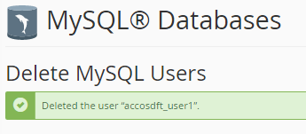 deleted mysql user
