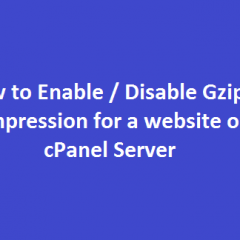 enable disable gzip compression