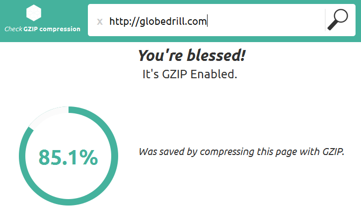 gzip compression enabled