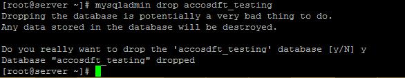 mysqladmin drop database