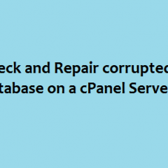repair corrupted cpanel database