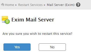 restart exim service cpanel