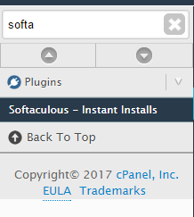 softaculous install
