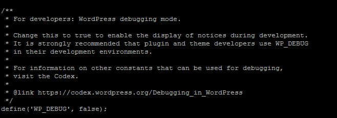 Enable WordPress Debug