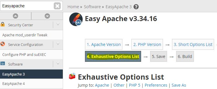WHM easyapache 3 Install GD