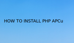 install PHP APCu extension