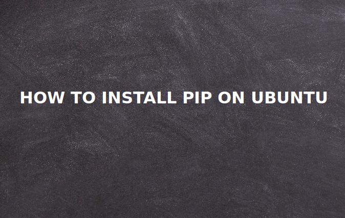install pip ubuntu 16.04