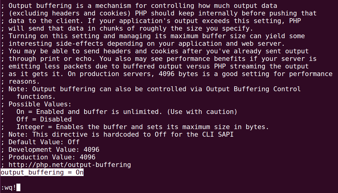 How to Enable PHP output_buffering