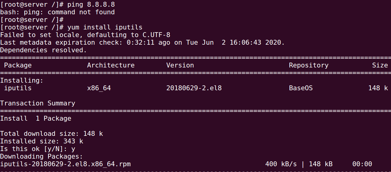 How to Install Ping on CentOS Redhat 8 Server