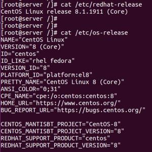 How to check OS version centos redhat fedora