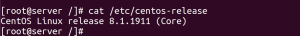 How to check OS version CentOS Redhat fedora
