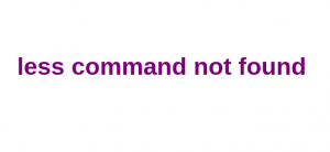 Less command not found