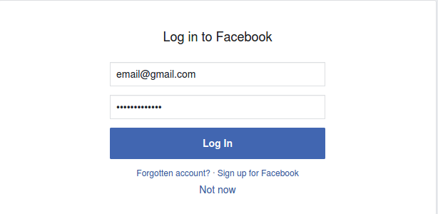 Log in to Instagram using Facebook account