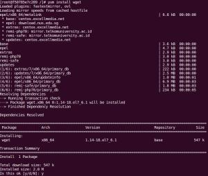 How to install wget command on CentOS RHEL 7 Server