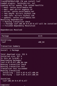 lsof command not found - How to install lsof command